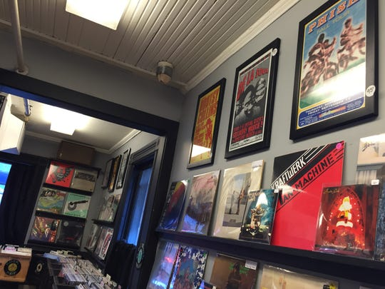 The walls and bins are filled with vinyl at Burlington Records on Bank Street.