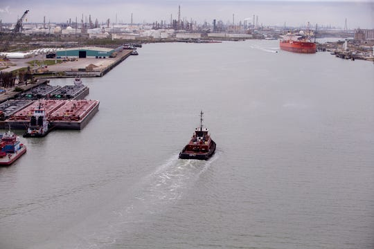 The Port of Corpus Christi is moving forward on a $360 million effort to widen and deepen its narrow ship channel. Here is a view of the port on January 7, 2019.