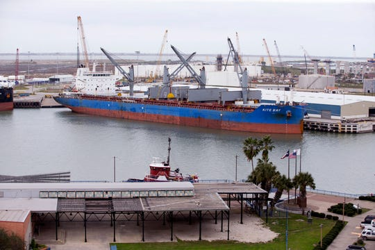 The Port of Corpus Christi is the nationÕs fourth largest port, based on the tonnage of cargo it imports and exports. Here is a view of the port on January 7, 2019.
