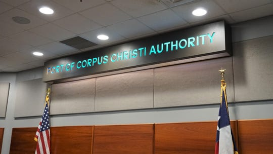 Members of the Port of Corpus Christi Authority Board of Commissioners hold a meeting on Dec. 11, 2018.