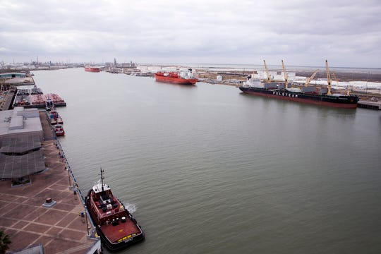 The Port of Corpus Christi has recently gotten the attention of energy companies that want both the advantage of a deepwater port and access to a growing pipeline network. Here is a view of the port on January 7, 2019.