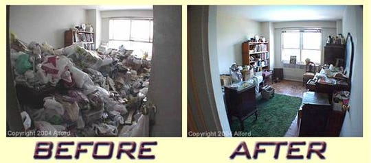 Hoarders -Declutterers Express  of Camden clears out and organizes living spaces, sometimes with dramatic consequences.