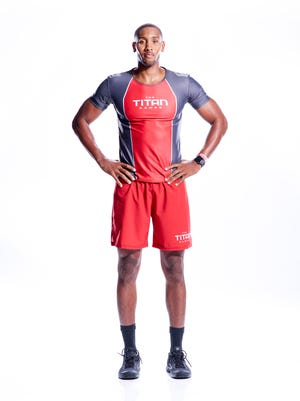 """Montez Blair, a former Sicklerville resident and star athlete at Timber Creek High, is a contestant on The Rock's """"Titan Games."""" which puts participants through incredible physical challenges."""