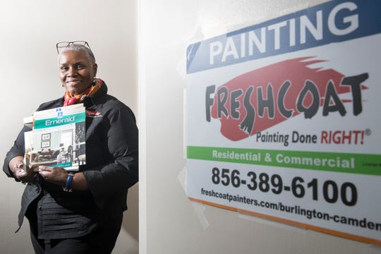 Former Food Bank of South Jersey CEO Val Traore recently bought a paint franchise called Fresh Coat Painters of Burlington-Camden. Her administrative office is in Marlton.