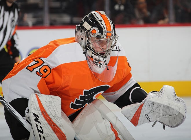 Carter Hart arrived earlier than expected this season thanks to a rash of injuries. While he has performed well for the most part, the Flyers have to consider his long-term development.
