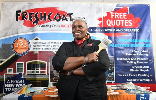 Former Food Bank of South Jersey CEO Val Traore recently bought a paint franchise called Fresh Coat Painters of Burlington-Camden. She plans to serve others in a different way now.