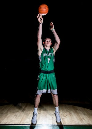 Huntington High School senior Elijah McCloskey achieved his 1,000-point goal on Friday, January 4, 2018, against rival Paint Valley High School in Bainbridge, Ohio. McCloskey became the first player of the season to reach 1,000 points and the 93rd boy in Scioto Valley Conference.