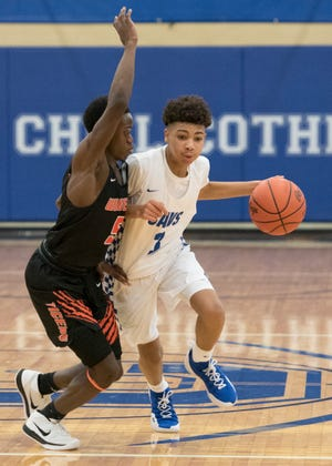 Chillicothe boys basketball defeated Hillsboro 64-37 on Tuesday by 19 points from Tre Beard.