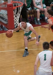 Elijah McCloskey scored 44 of Huntington's 61 total points on the night as he moved up to 62nd on the Scioto Valley Conference all-time scoring list.