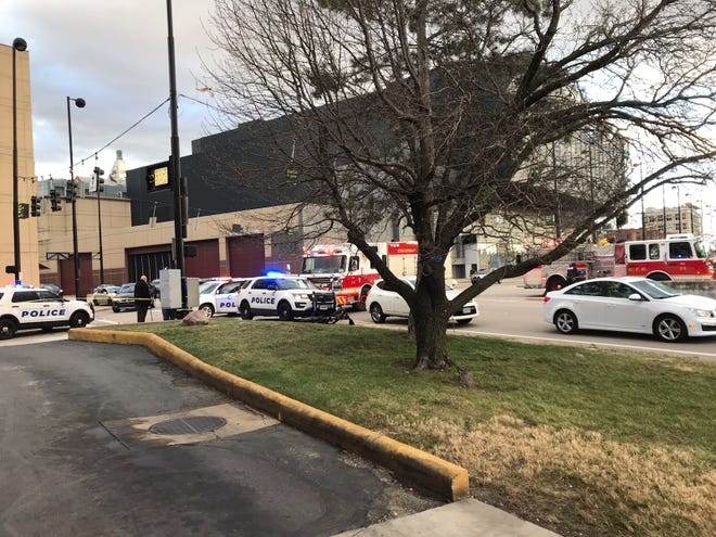 A woman was struck by a vehicle and suffered life-threatening injuries Tuesday afternoon at the intersection of Sixth and Central streets.