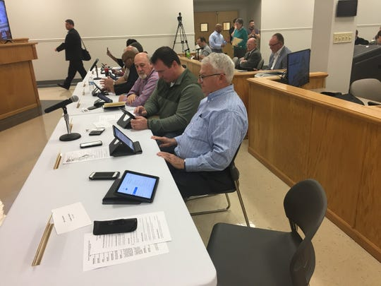 Montgomery County commissioners met this week at the School Board Central Office because of water damage in the courthouse. They'll return to the courthouse Monday in monthly formal session.
