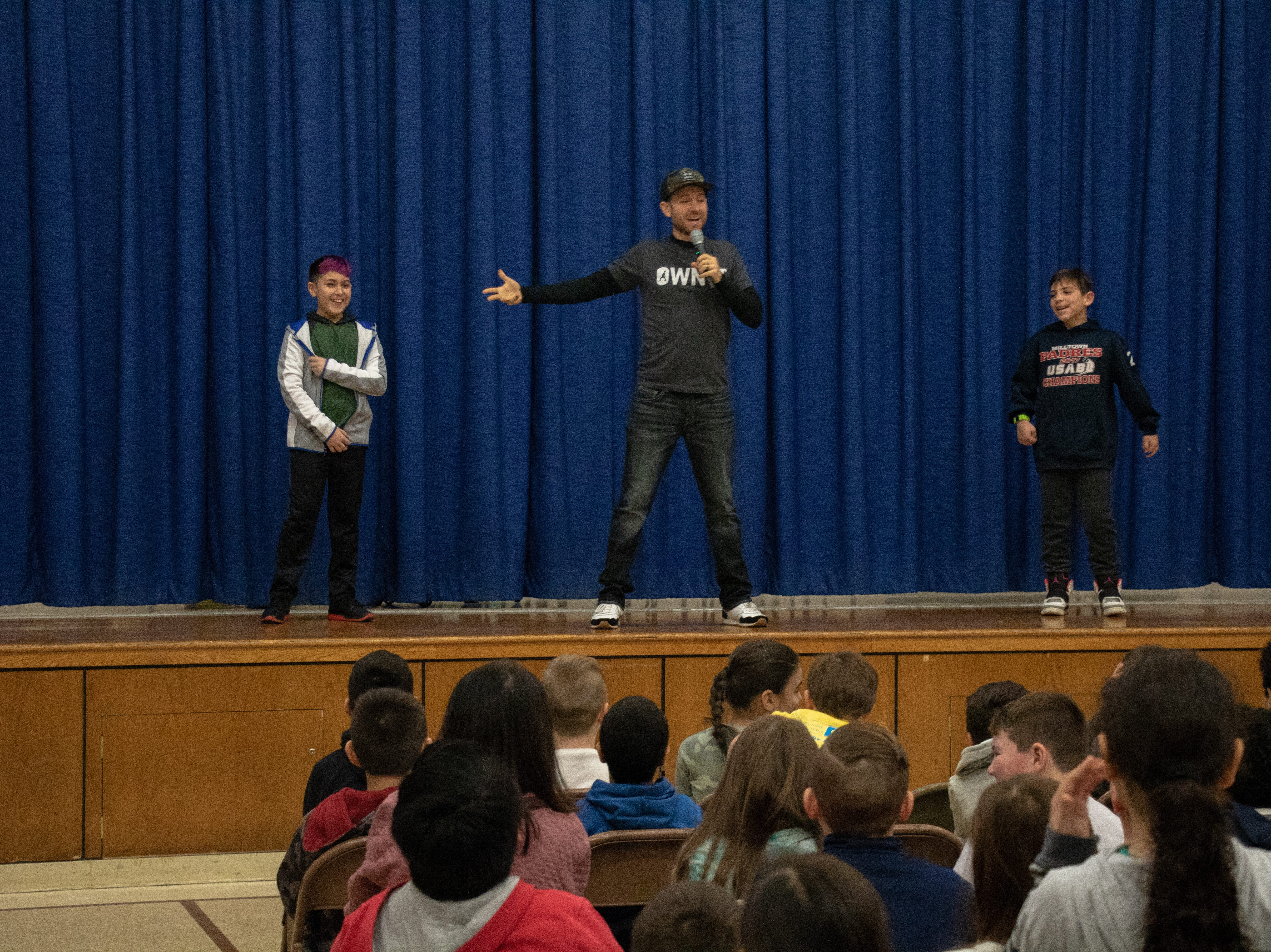 As part of the Rutgers University New Jersey School Transformation Climate Project, the Joyce Kilmer School had a whole day of activities on Friday, Jan. 4, starting with a presentation by motivational speaker Brandon Lee White at 9 a.m.