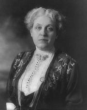 Suffragist Carrie Chapman Catt, of Charles City, pictured in 1914