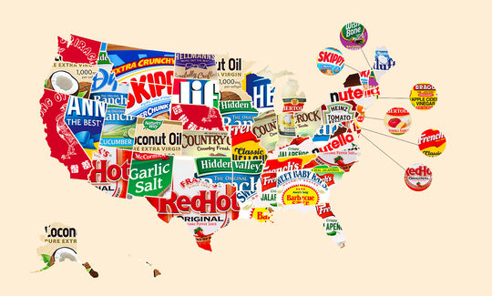 Favorite condiments of all 50 states
