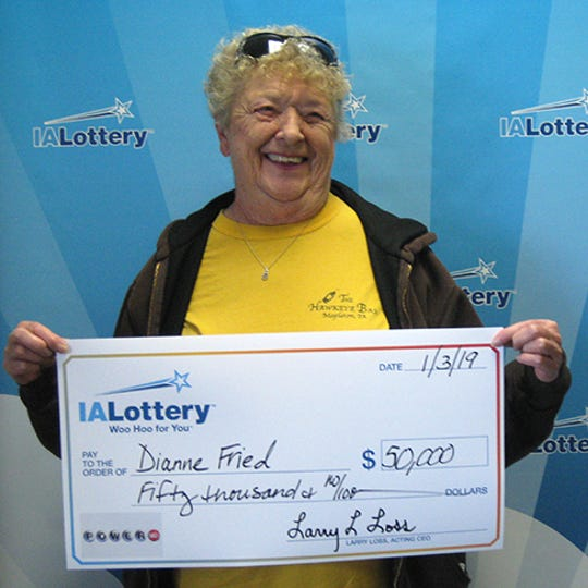 Dianne Fried of Mapleton won $50,000 in the Dec. 29 Powerball drawing.