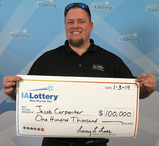 Jacob Carpenter of Des Moines won $100,000 in the Dec. 29 Powerball drawing.
