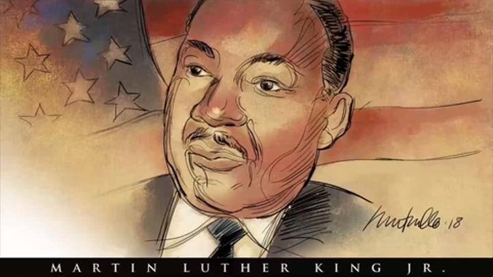 Register artist Mark Marturello sketches Martin Luther King Jr.