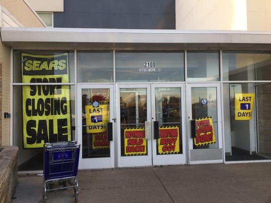 The Sears store in Lincoln Park, Michigan, which opened in 1956, closed for good on Sunday, Jan. 6, 2018.
