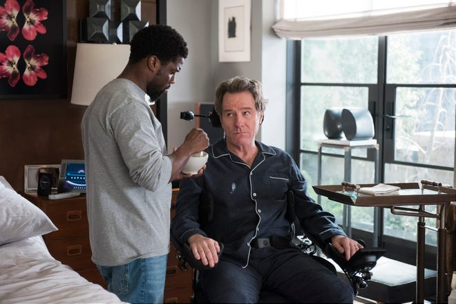 """Kevin Hart, left, and Bryan Cranston in  """"The Upside."""""""