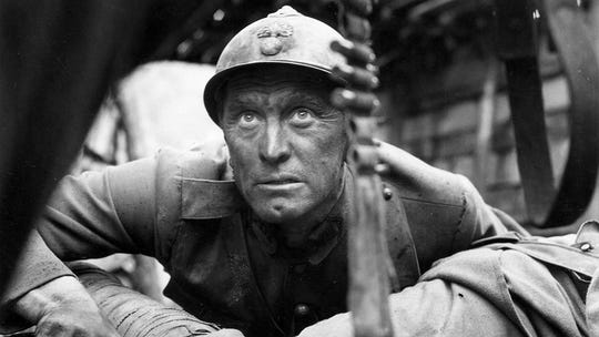 "Kirk Douglas in ""Paths of Glory."""