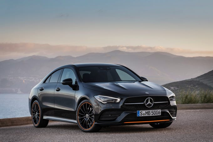 The Mercedes-Benz CLA four-door Coupe made its world premiere at the Consumer Electronics Show in Las Vegas, January 8, 2018.
