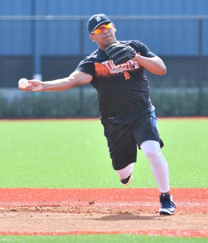 Tigers prospect Isaac Paredes is listed as a shortstop but the Tigers would like to see him trim up from his current weight of 225 pounds or a possible move to third is likely.