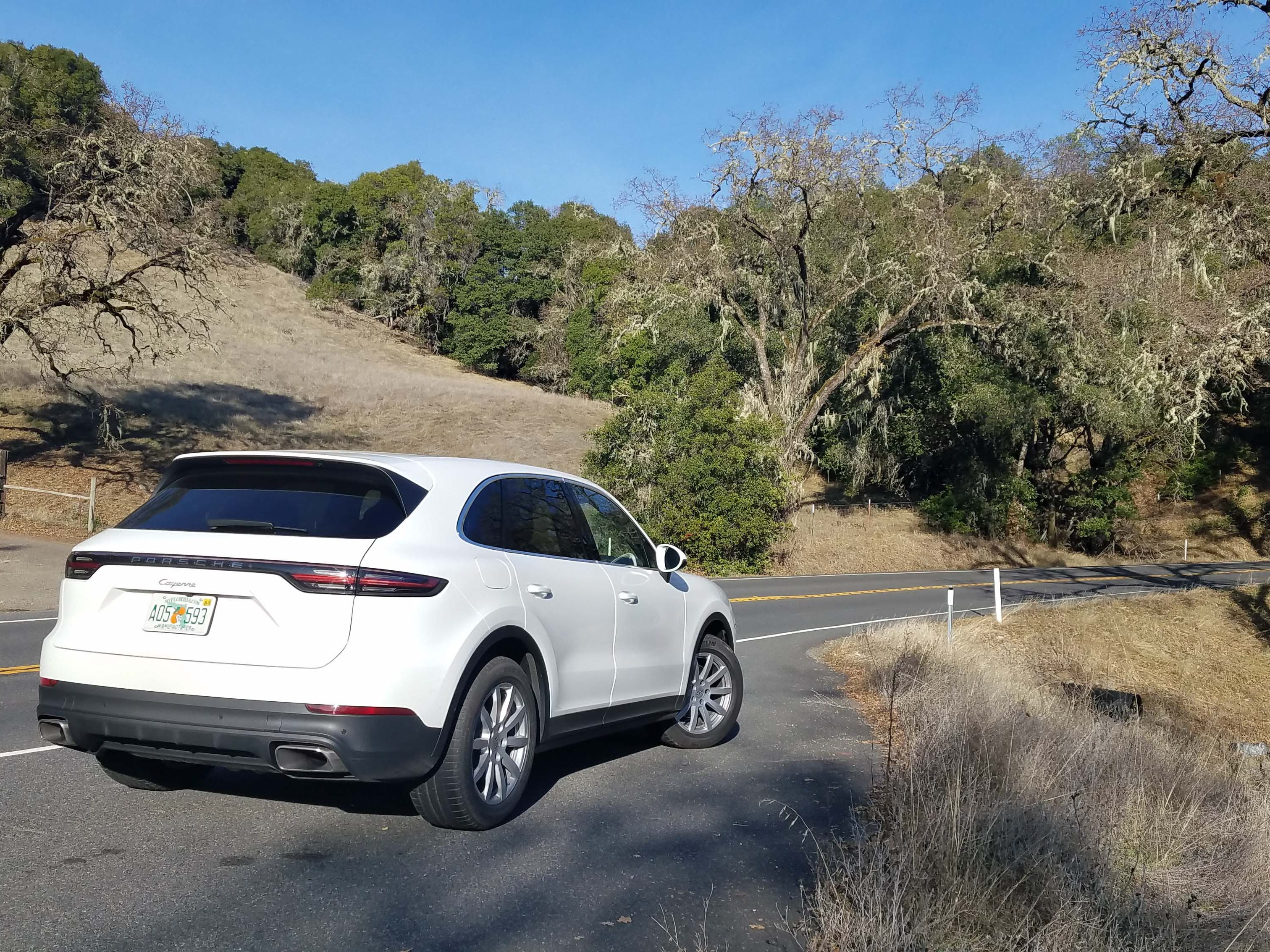 Through Napa Valley's twisted roads, the 2019 Cayenne was a barrel of fun. Precise handling and 335 horsepower keep things moving along.