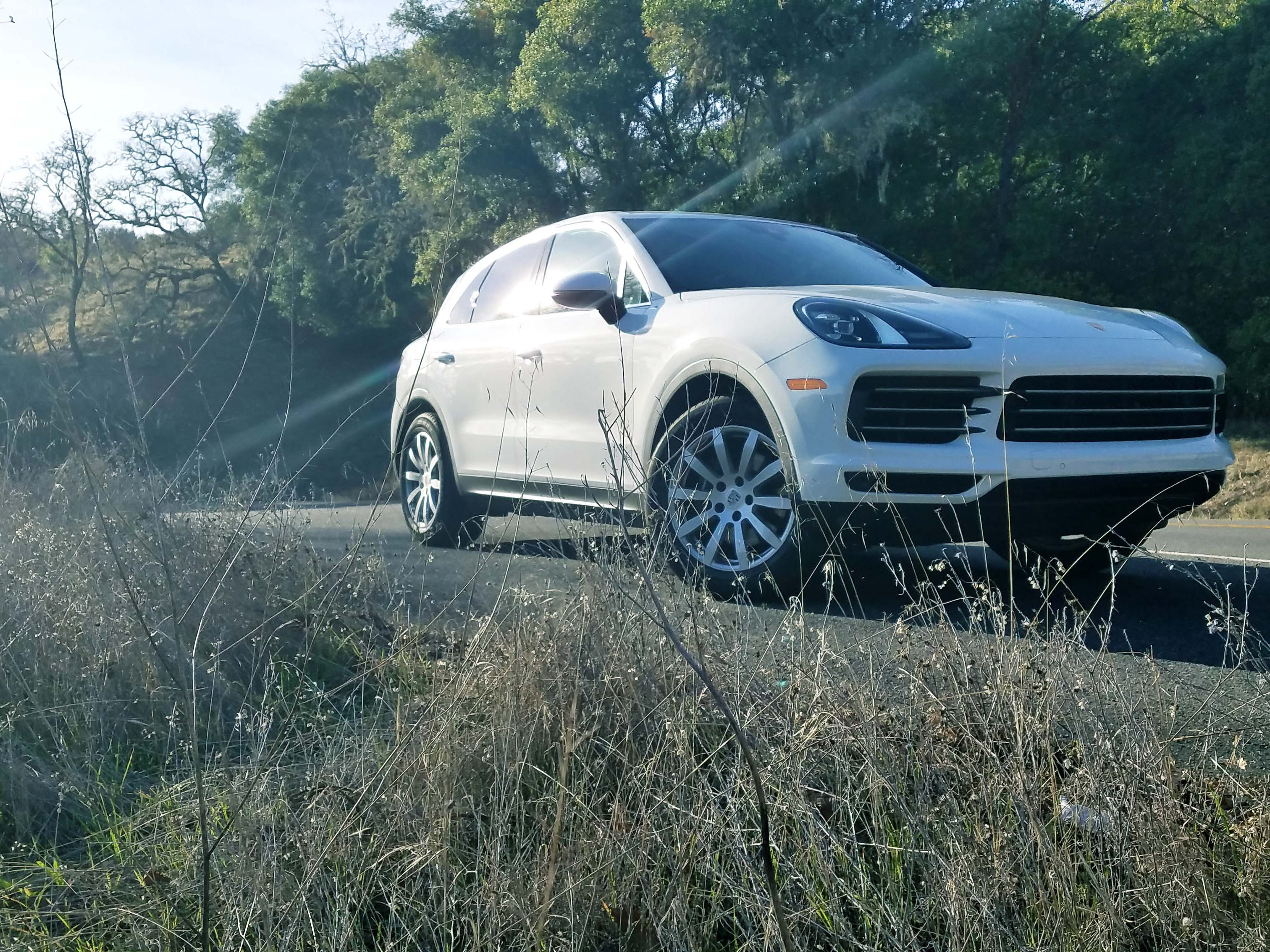 From the front, the 2019 Cayenne is barely distinguishable from the 2018 model — but the Gen 3 model brings more power and interior refinement.