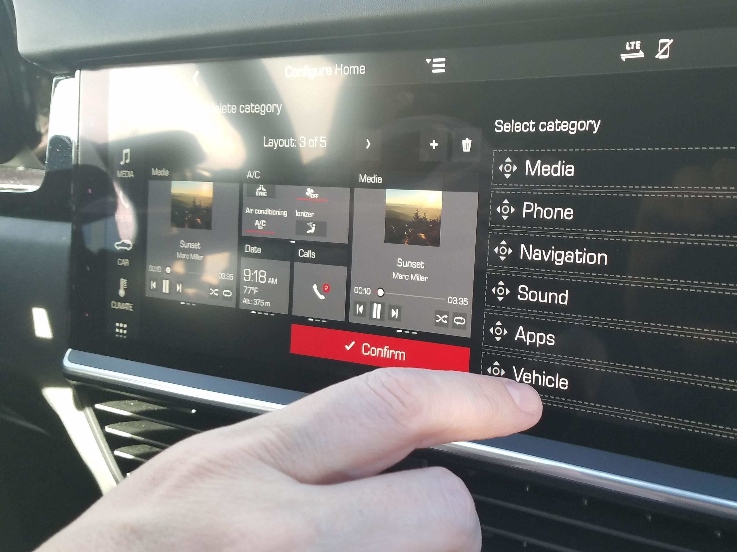 The 2019 Cayenne features a much-improved infotainment system that can be configured multiple ways — and features a wealth of information.