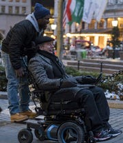 "Kevin Hart and Bryan Cranston in ""The Upside."""