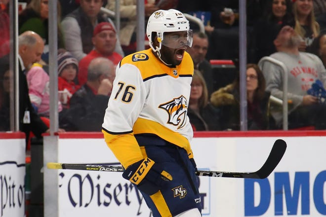 P.K. Subban was traded from Nashville to New Jersey on Saturday.