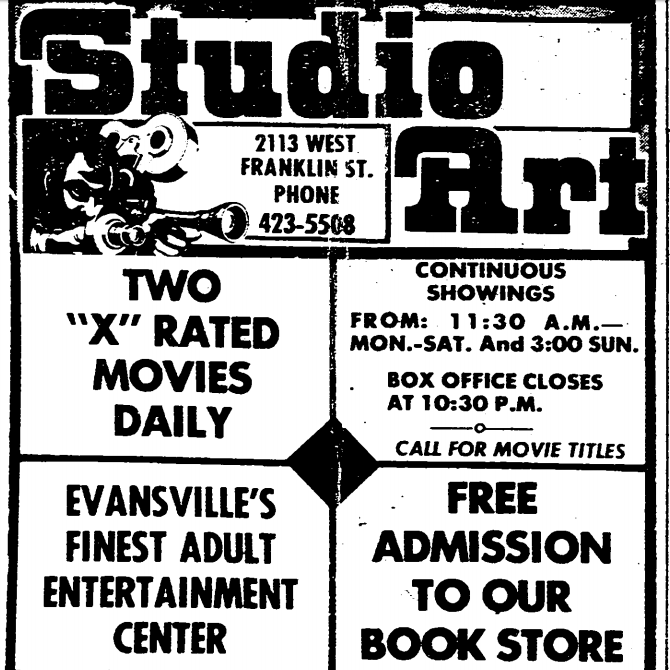 History Lesson: Studio Art, an X-rated theater on Franklin Street