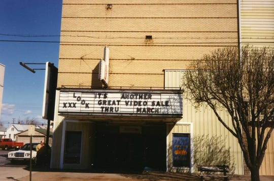Photo of Studio Art, an X-rated theater and adult bookstore in the former Franklin Street Theater that opened January 23, 1970 and closed January 6, 1997 after 28 years in business.