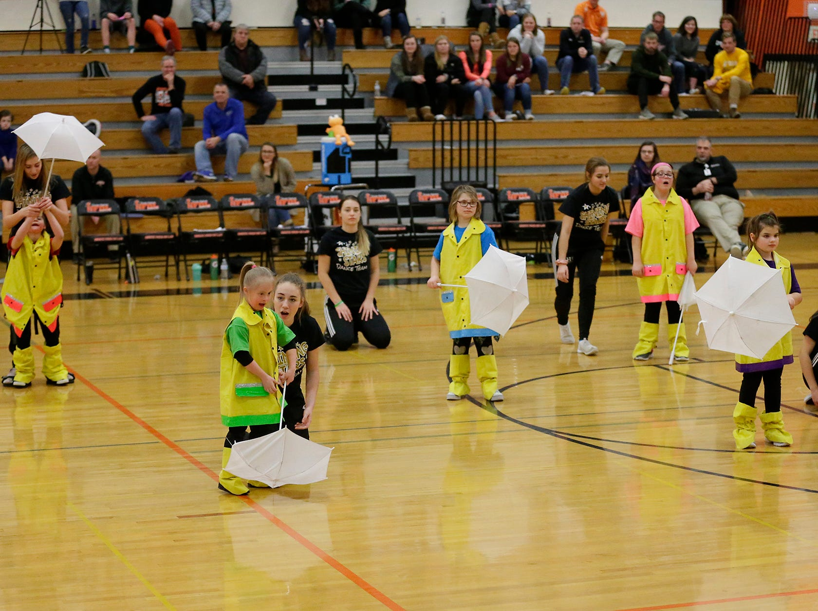 The Shining Stars Dance Team perform during halftime of the North Fond du Lac High School vs. St. Mary's Springs Academy girls basketball game Jan. 4 at North Fond du Lac High School.