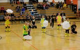 The Shining Stars Dance Team recently performed as the half time show at a recent varsity basketball game.