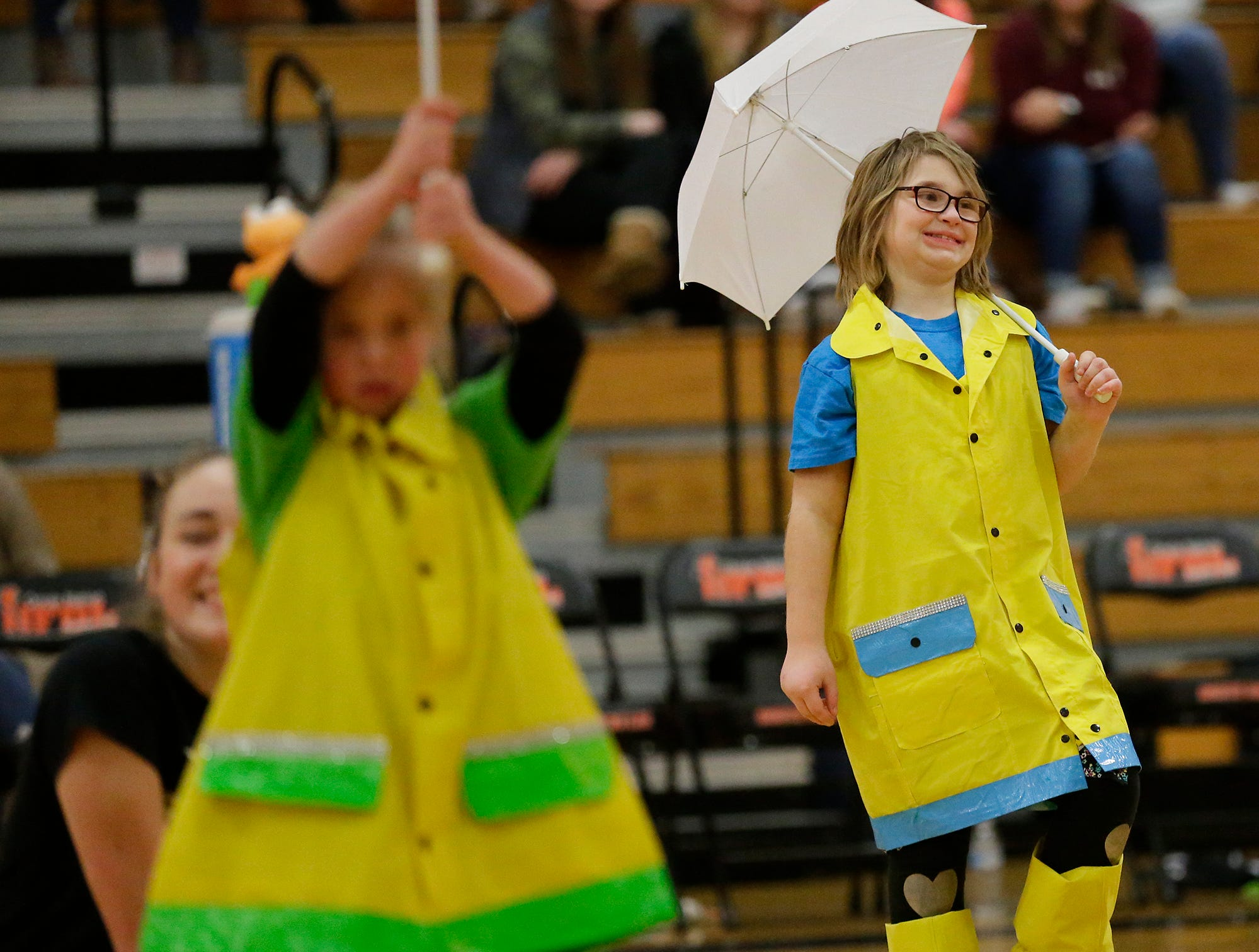 Abby Zirbes of the Shining Stars Dance Team performs during halftime of the North Fond du Lac High School vs. St. Mary's Springs Academy girls basketball game Jan. 4 at North Fond du Lac High School.