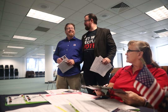 Several local former felons registered to vote Tuesday at the Lee County Elections Office in downtown Fort Myers. Former felons who served their sentence are eligible to register to vote on Jan. 8 per the passage of Amendment 4 in November.