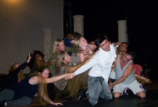 "A scene from Cultural Park Theatre's ""Jesus Christ Superstar"""