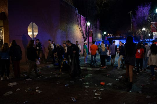 Many Clemson fans stayed up to celebrate on College Avenue after Clemson defeated Alabama in the College Football Playoff National Championship Monday, Jan. 7, 2019.