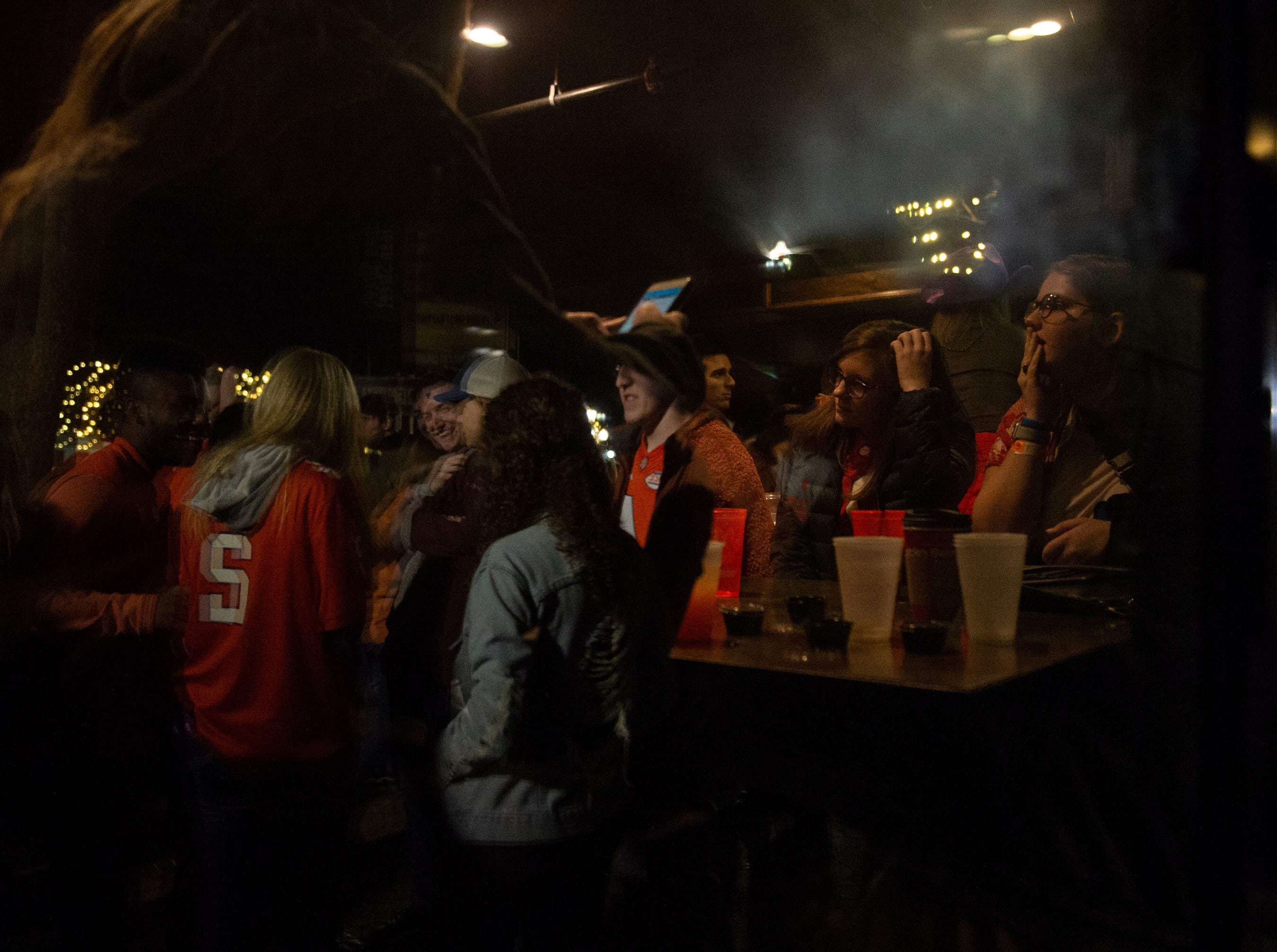 Clemson fans watch Clemson play Alabama in the College Football Playoff National Championship Monday, Jan. 7, 2019.