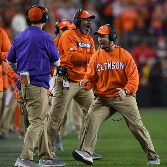 Clemson head coach Dabo Swinney during the 3rd quarter of the College Football National Championship at Levi's Stadium in Santa Clara, CA Monday, January 7, 2019.