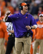 Clemson defensive coordinator Brent Venables during the 3rd quarter of the College Football National Championship at Levi's Stadium in Santa Clara, CA Monday, January 7, 2019.