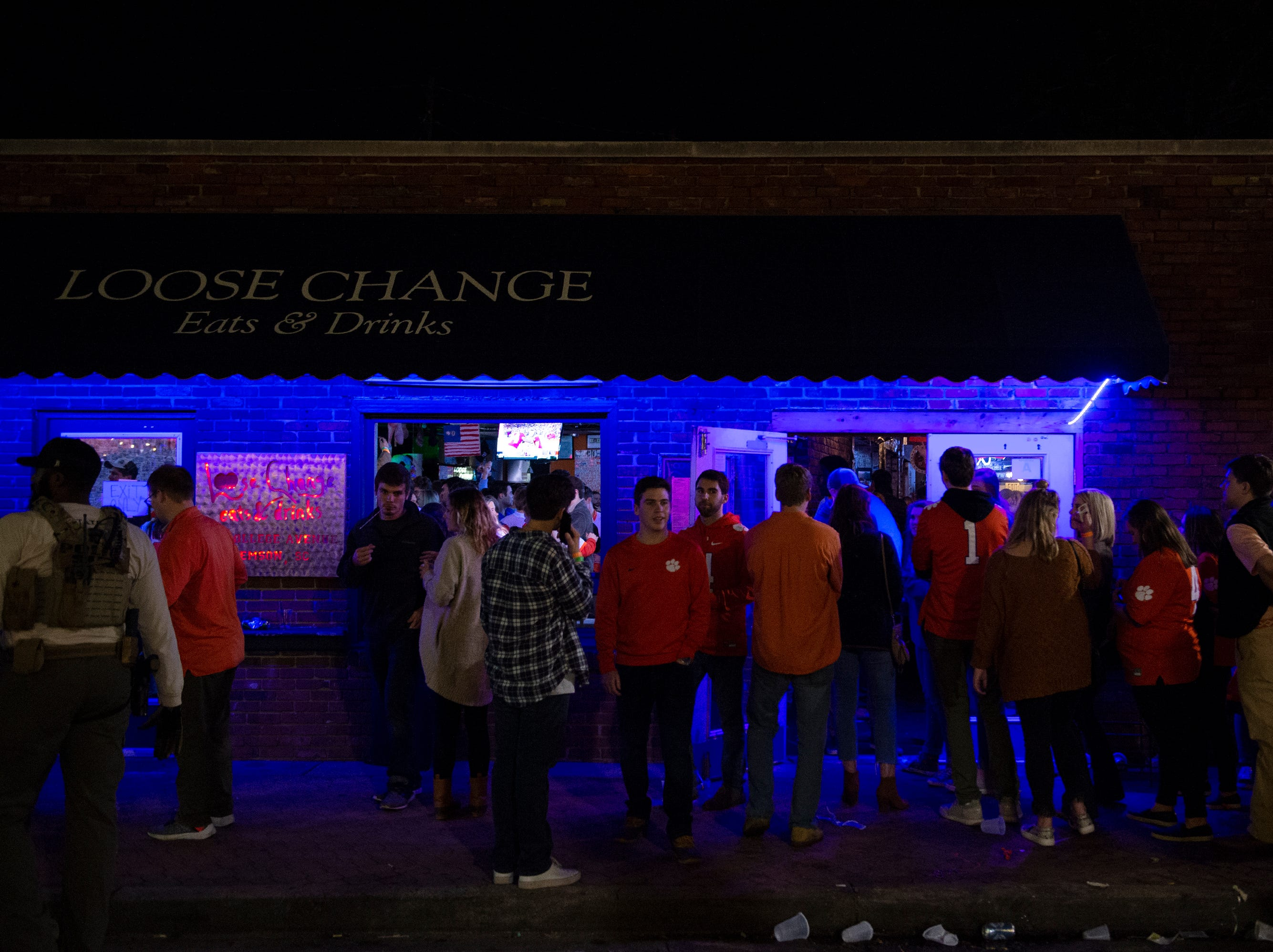 Many Clemson fans stayed up after Clemson defeated Alabama in the College Football Playoff National Championship Monday, Jan. 7, 2019.