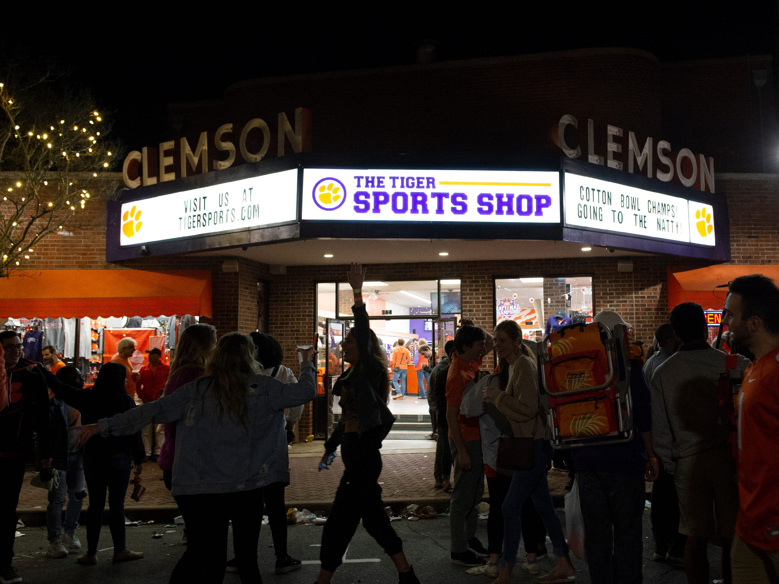 Championship merchandise was up for sale at The Tiger Sports Shop on College Avenue after Clemson defeated Alabama in the College Football Playoff National Championship Monday, Jan. 7, 2019.
