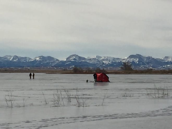 Ice fishing is continuing at Lake Frances despite warmer daytime temperatures. The annual ice fishing derby is scheduled Saturday, Jan. 12.