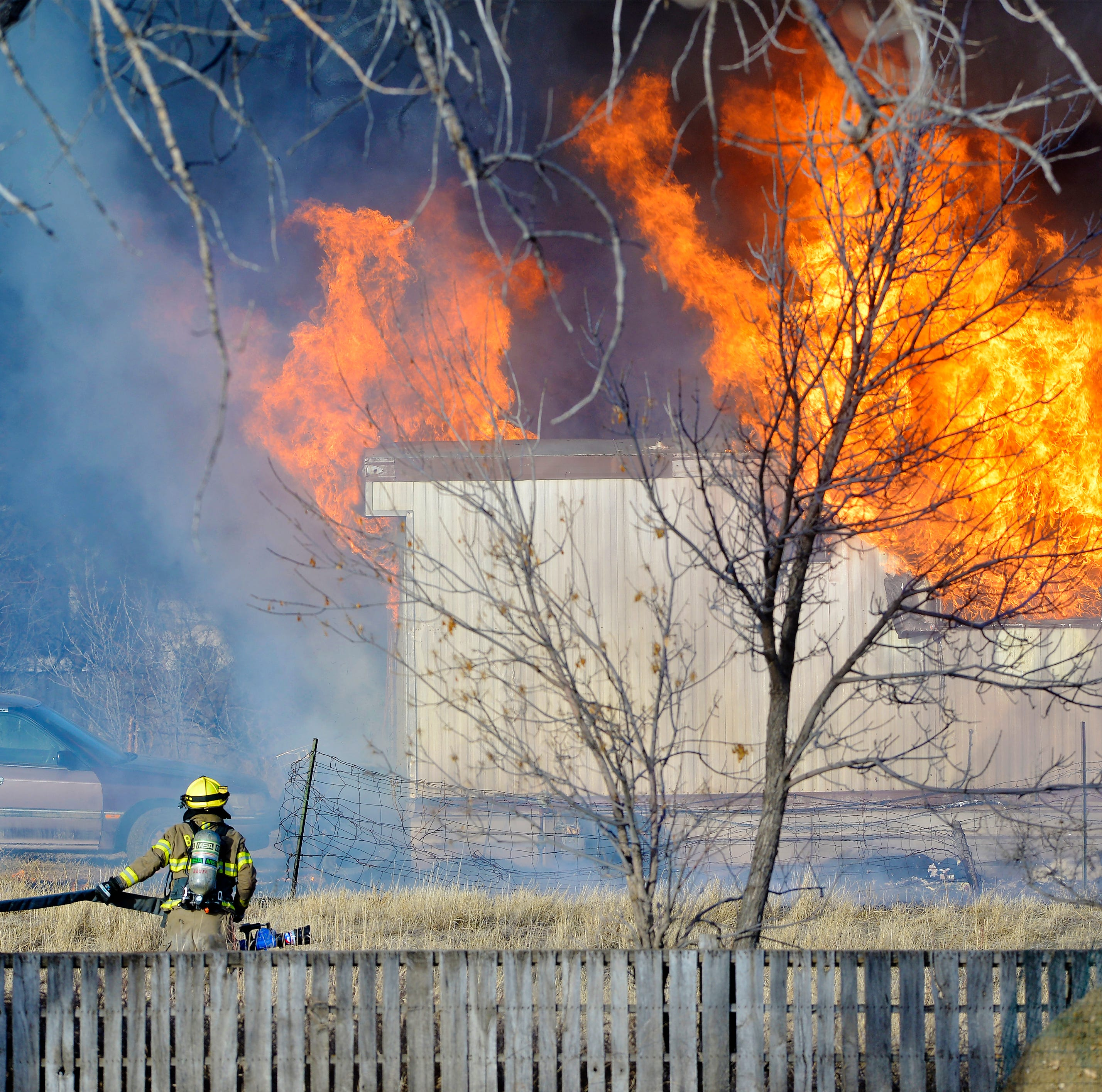 Breaking news: Fire destroys Central West area trailer house