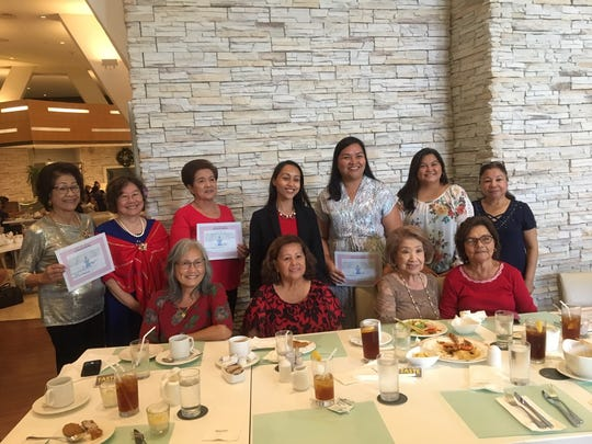 The Young Mens' League of Guam, Ladies' Auxiliary, held it's 2019-2020 Induction of Officers on December 19, 2018, at the Westin Resort, Taste Restaurant. The induction was officiated by Senator Régine Biscoe Lee, of the 34th Guam Legislature. Members present were, front row from left:  Lou Benavente, Lucy Martinez, Nori Flores, and Sylvia Mendiola. Second row from left: President Sera Taitano, Clare Cruz, Vice President Sue Carbullido, Senator Lee, Treasurer, Melanie Mendiola, Lori Toves, and Secretary Rose Pelkey.