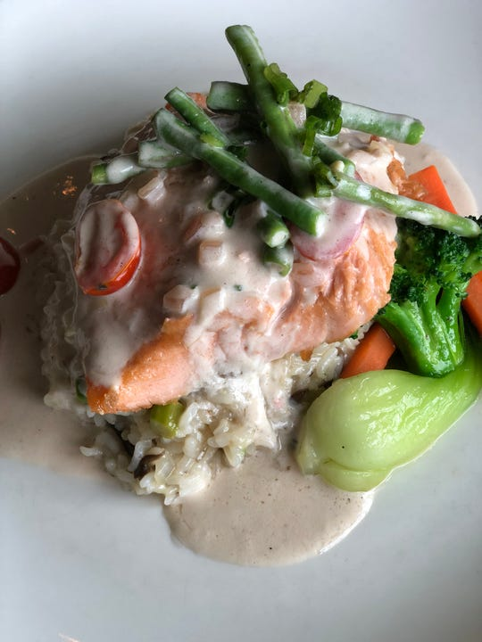 "The ""Salmon Tinaktak with Mushroom Risotto"" at Proa is offered as a ""special"" on some occasions."