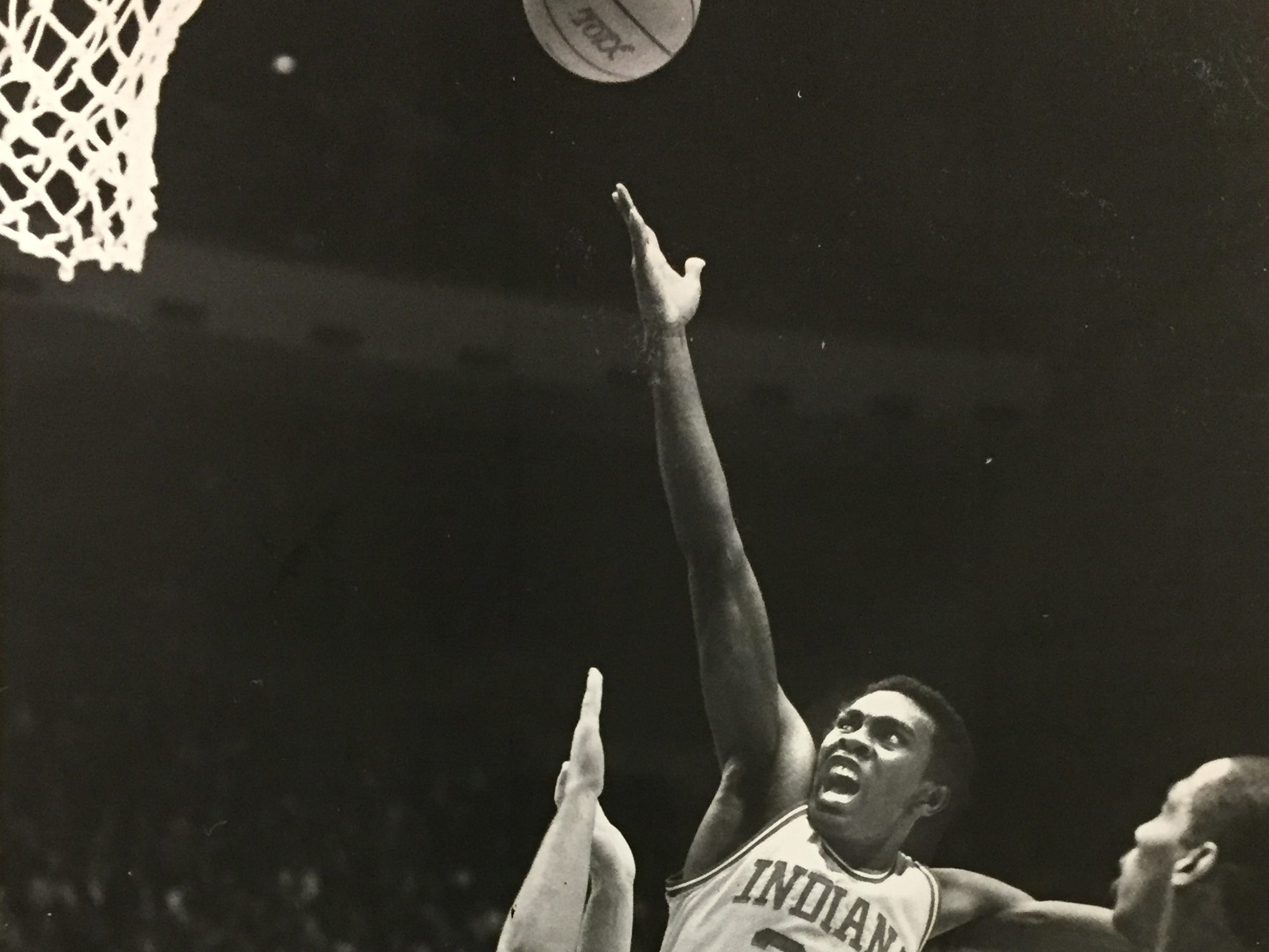 Jim Thomas puts up a shot against Ohio State on March 12, 1983.