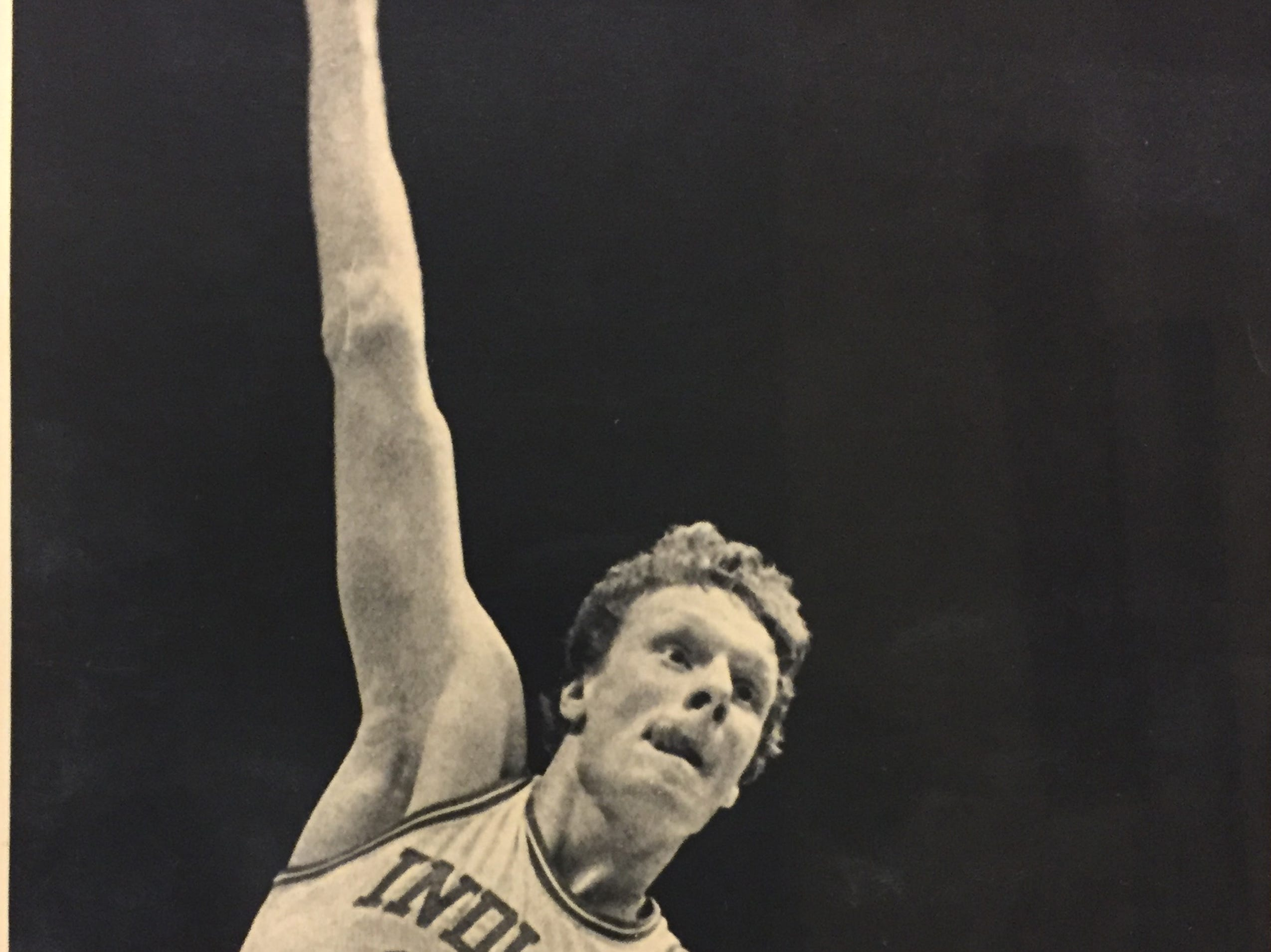 IU's 7-2 center Uwe Blab puts up a hook shot against Ohio State on March 12, 1983.
